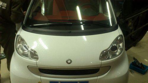 奔驰斯玛特汽车音响改装方案高清图片